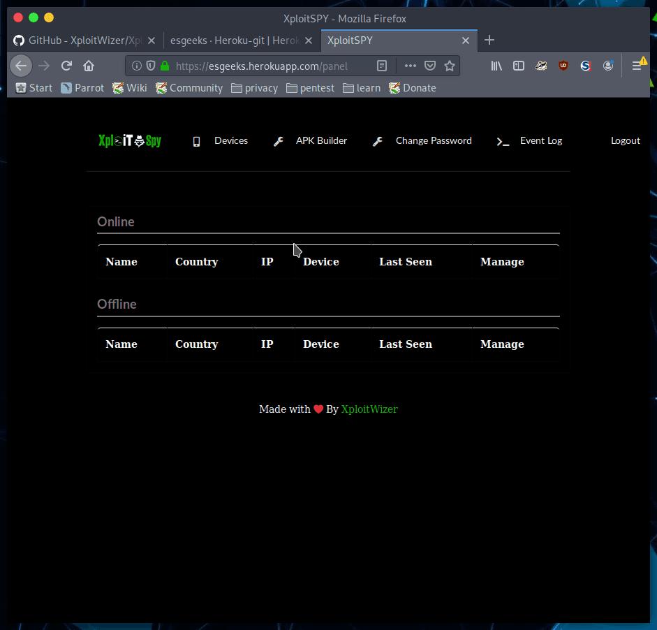 APK Builder de XploitSPY
