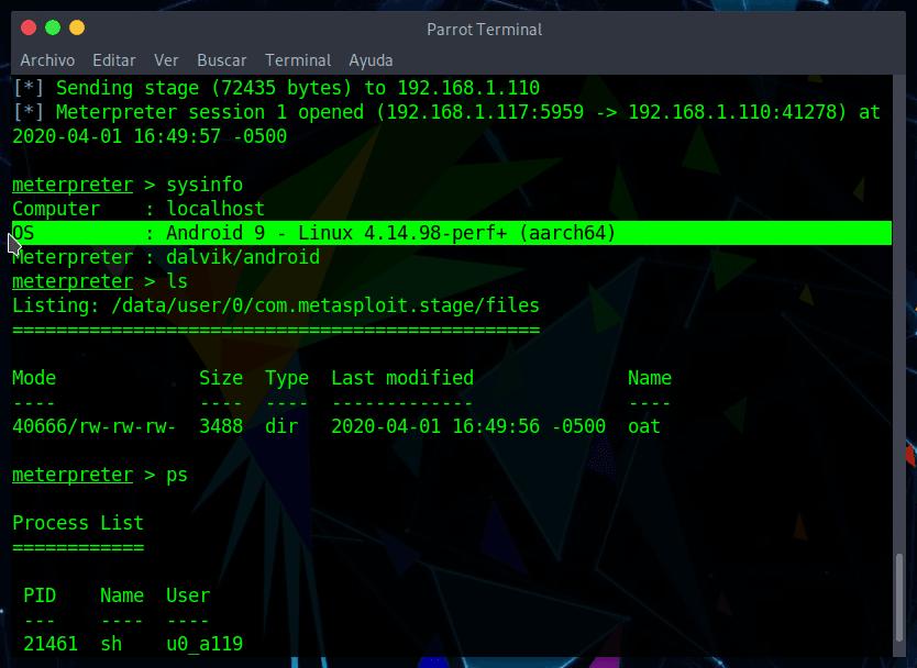 Metasploit Payload con RapidPayload
