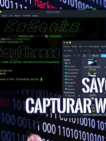 SayCheese Capturar webcam con enlace