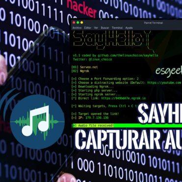 SayHello Capturar audio con enlace