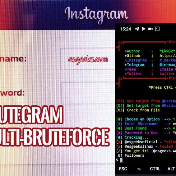 Brutegram Multi-bruteforce hack Instagram