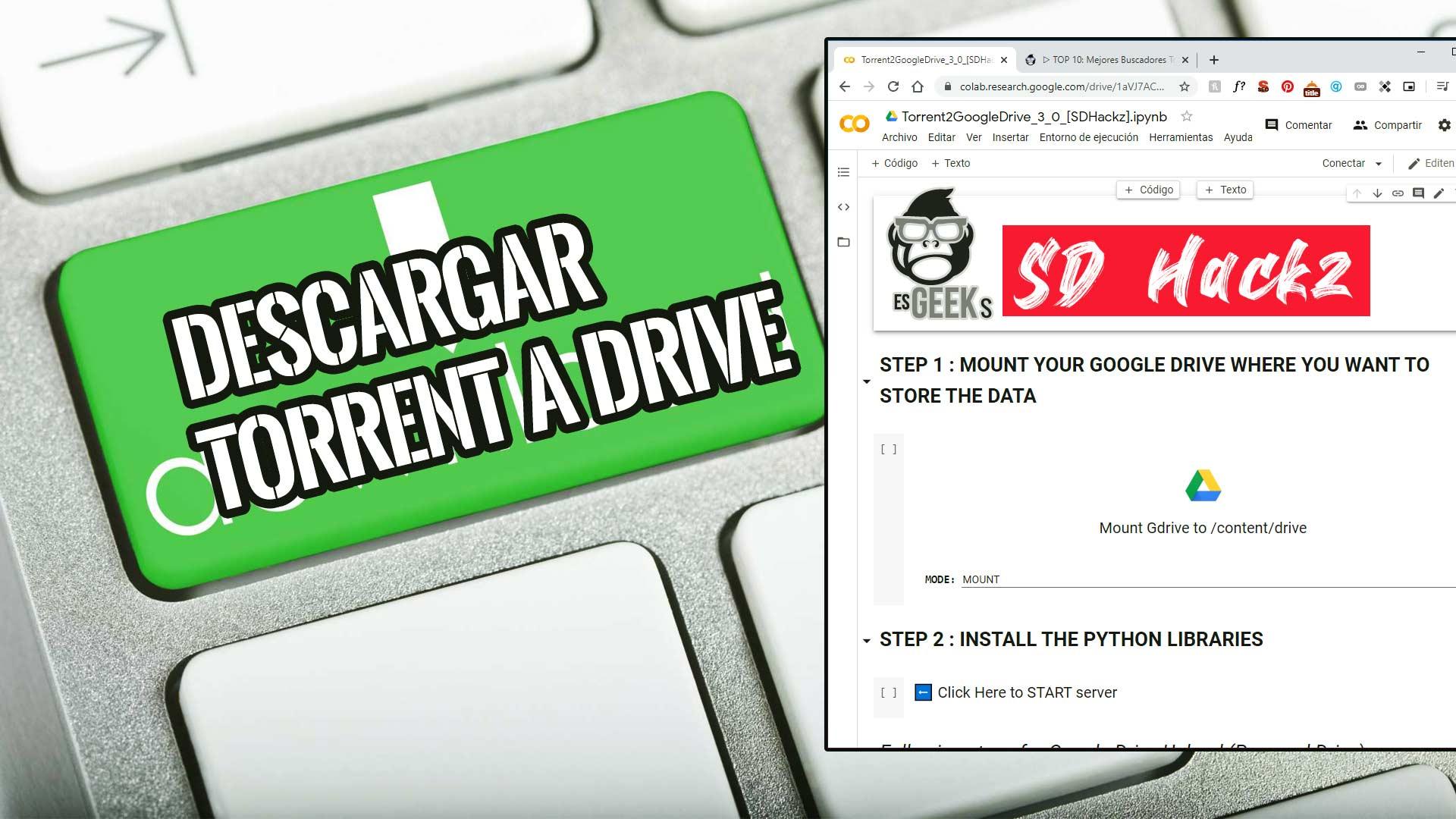 Download Torrent to Google Drive