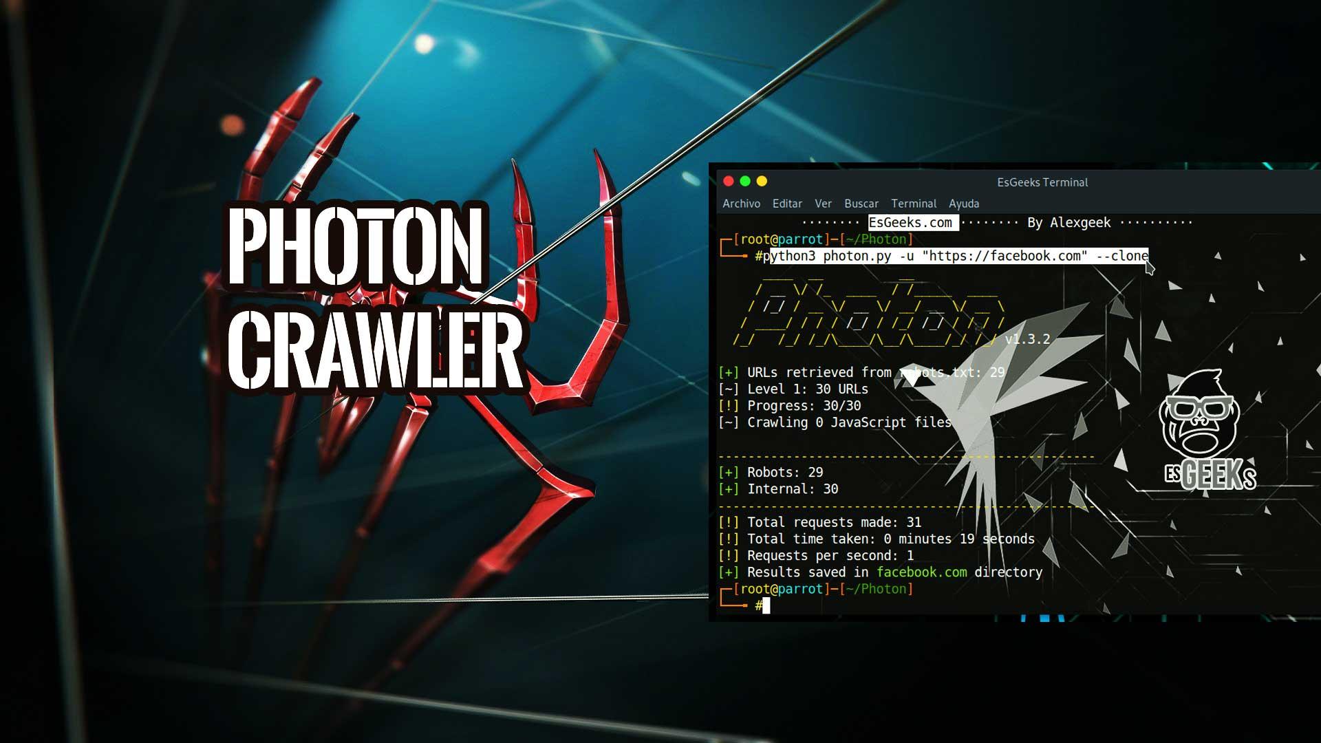 Photon Rastreador Web para OSINT