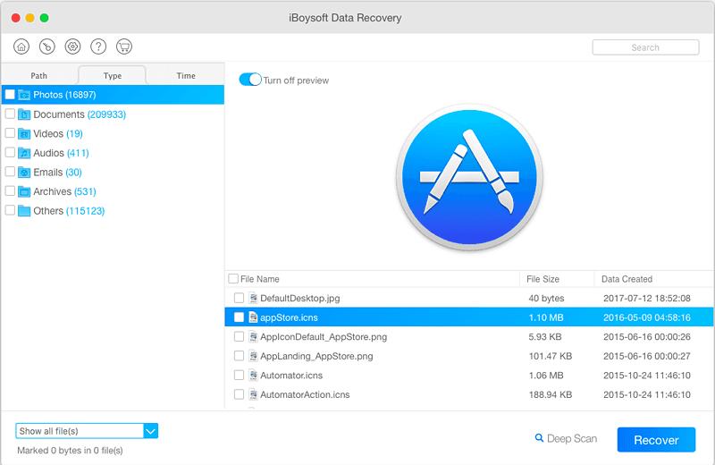 Recuperar archivos eliminados iBoysoft Data Recovery