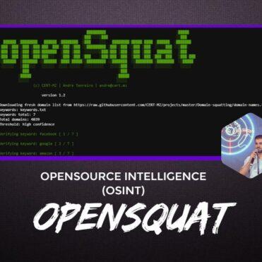 openSquat Opensource Intelligence OSINT