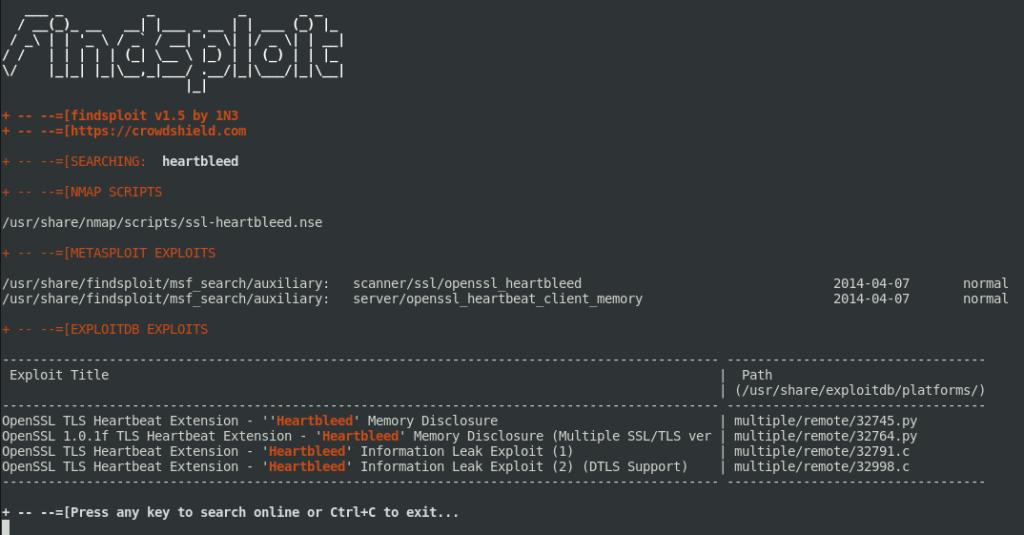 Demo Findsploit