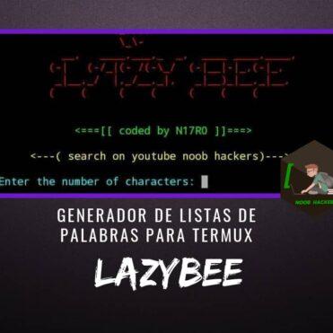 Lazybee Generador Listas de Palabras para Termux