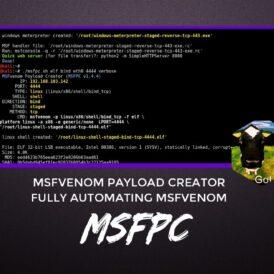 MSFPC MSFvenom Payload Creator