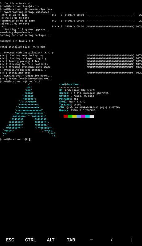 Screenshot TermuxArch