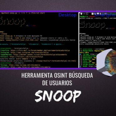 Snoop Project Herramienta OSINT Búsqueda de Usuarios