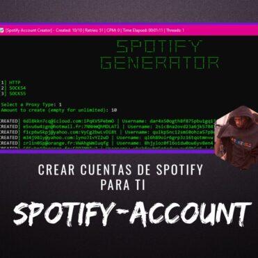 Spotify-Account-Creator Geneador Cuentas Spotify