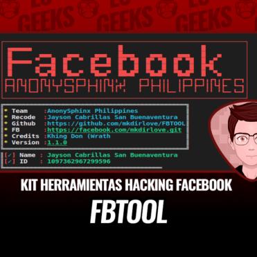 FBTOOL Kit de Herramientas Hacking Facebook
