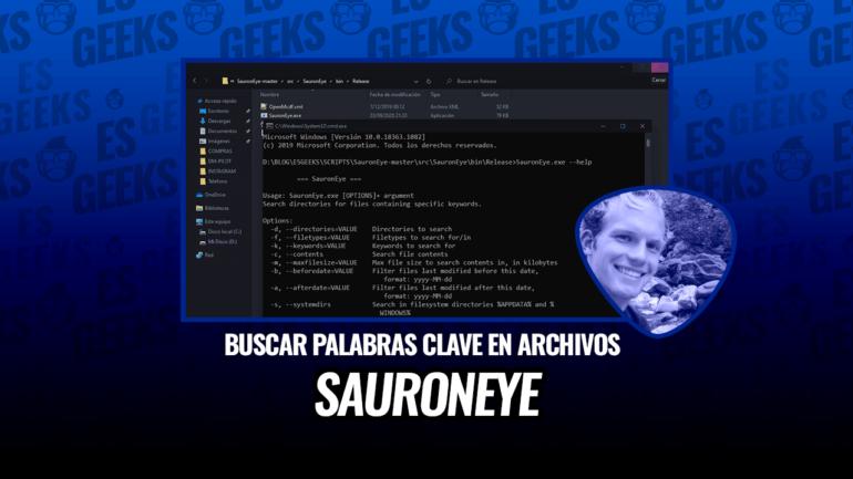 SauronEye Búsqueda de Palabras Claves Específicas