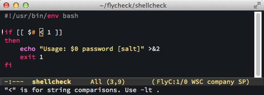 screenshot emacs flycheck