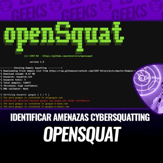 openSquat OSINT Identificar Amenazas de Ciberocupación