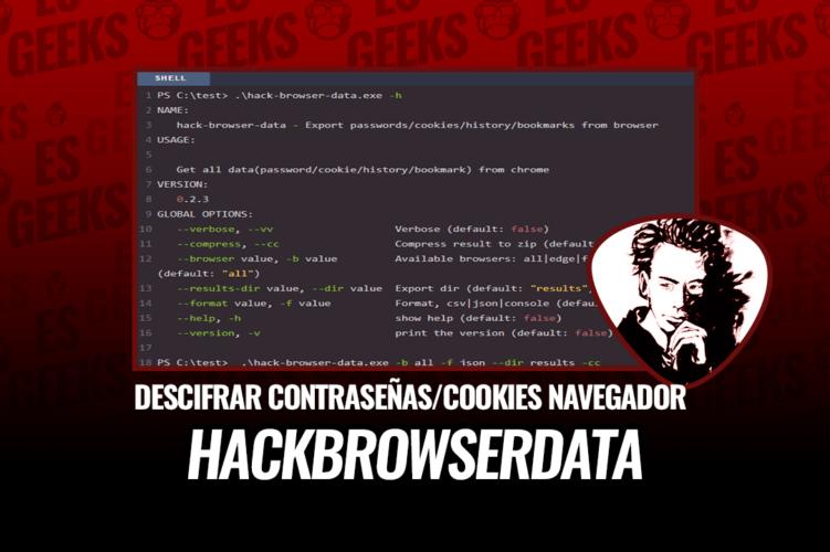 HackBrowserData Descifrar Contraseñas Cookies Navegador