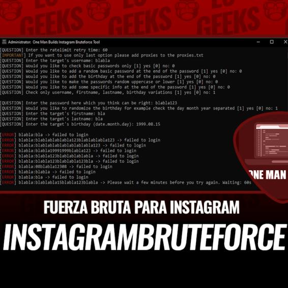 InstagramBruteforce Fuerza Bruta para Instagram