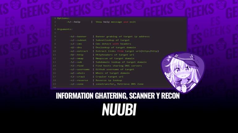 Nuubi Information Ghatering Scanner Recon