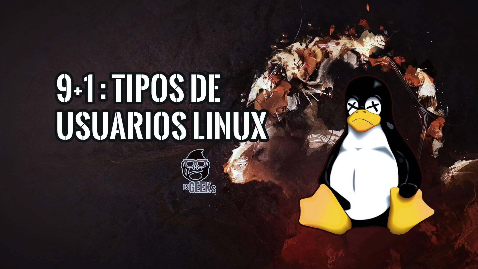 Tipos de Usuarios Novatos Linux