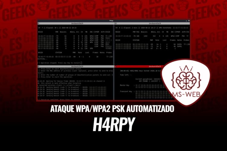 h4rpy Herramienta Automatizada Ataque WPAWPA2 PSK