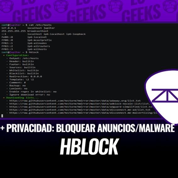 hblock Mejora Privacidad Bloqueando Anuncios y Dominios de Malware