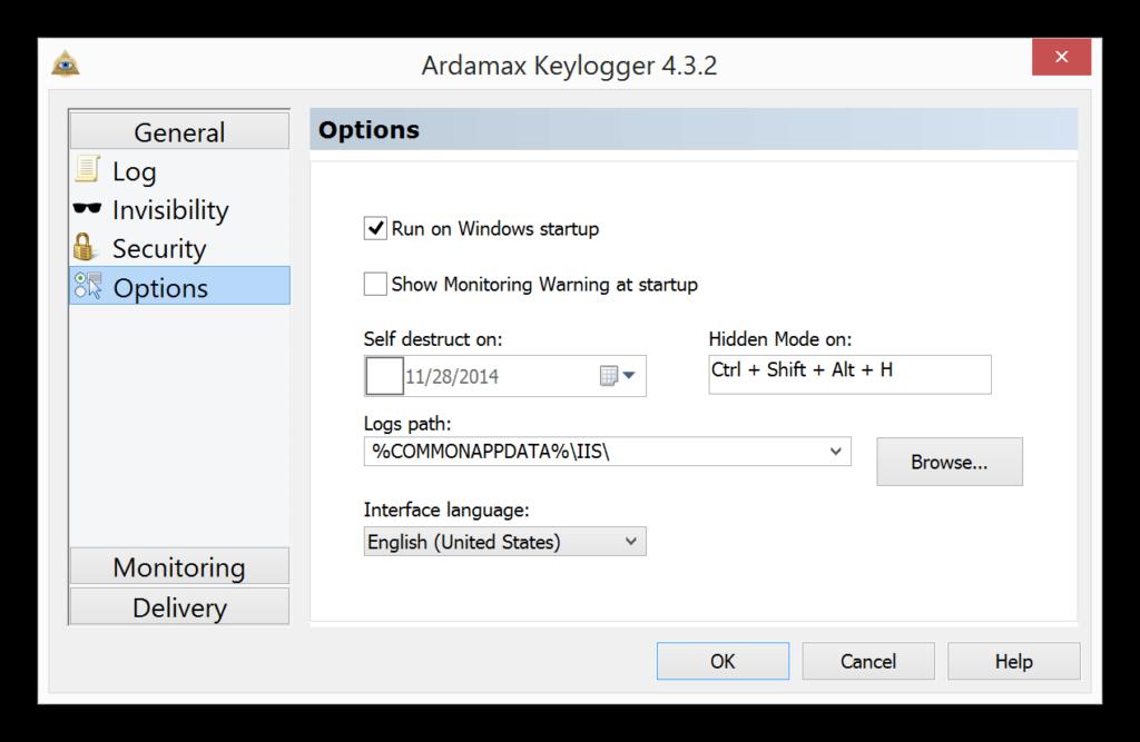 Captura de Ardamax Keylogger