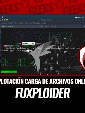 Fuxploider Explotación Vulnerabilidades Carga Archivos