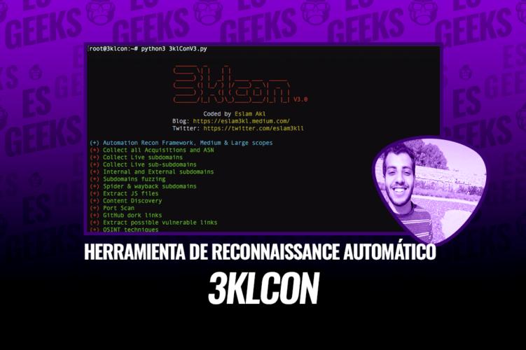 3klCon Herramienta de Reconnaissance Automático