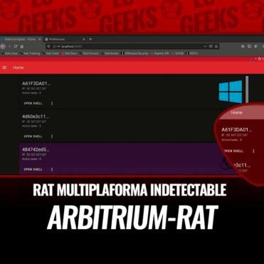 Arbitrium RAT Multiplataforma Indetectable FUD