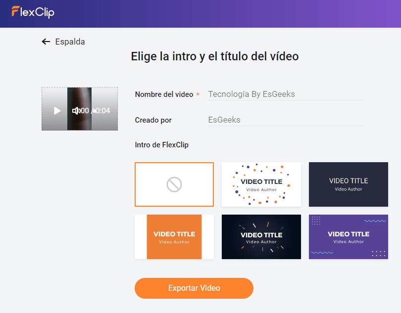 Exportar vídeo