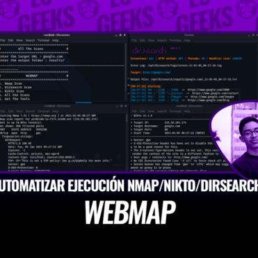 WebMap Automatizar Ejecución Nmap, Nikto y Dirsearch