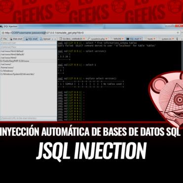 jSQL Injection Inyección Automática Bases de Datos SQL