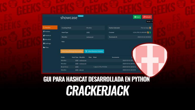 CrackerJack GUI para Hashcat Python
