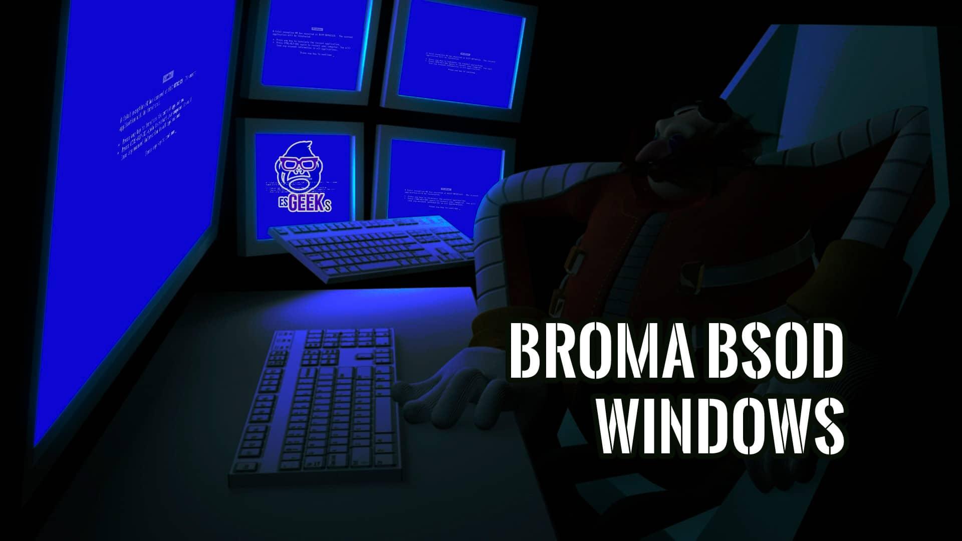 Crear Falsa Pantalla Azul de la Muerte en Windows