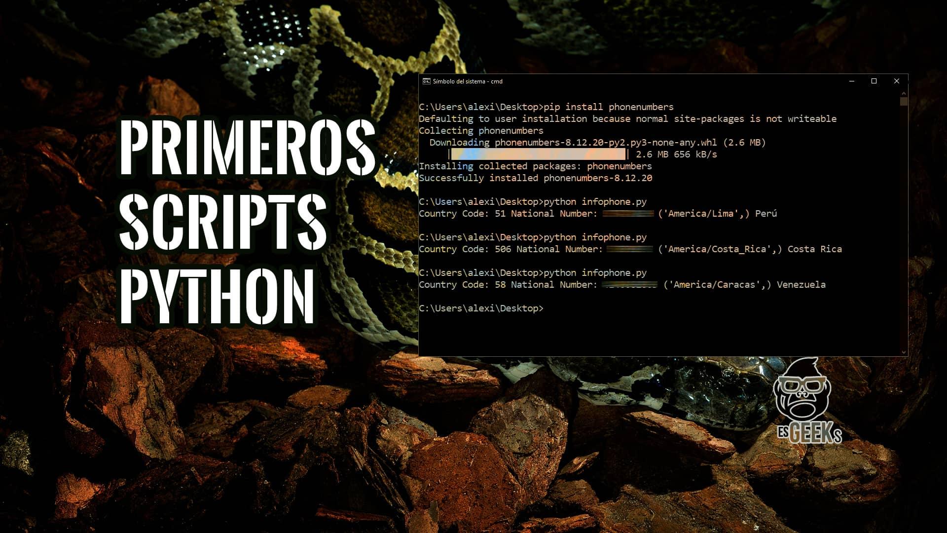 Ejemplos de Primeros Scripts con Python