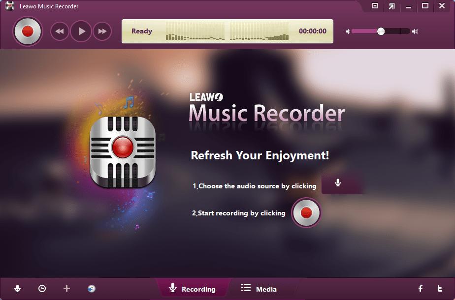 Interfaz para Grabar de Leawo Music Recorder