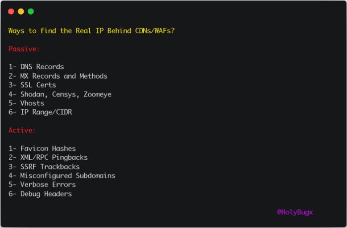 Métodos para encontrar IP de origen
