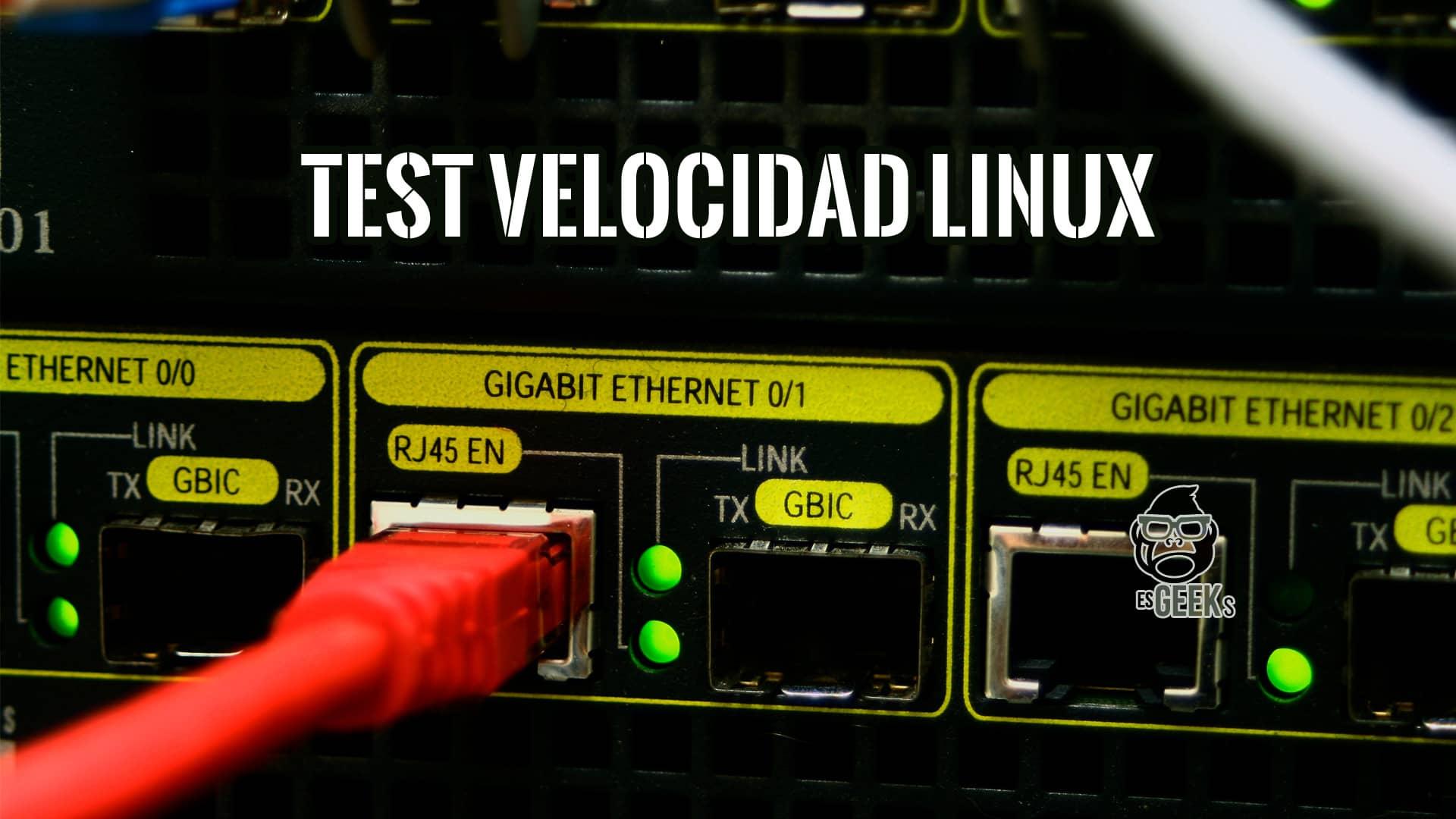 Test Velocidad Internet Ookla Linux