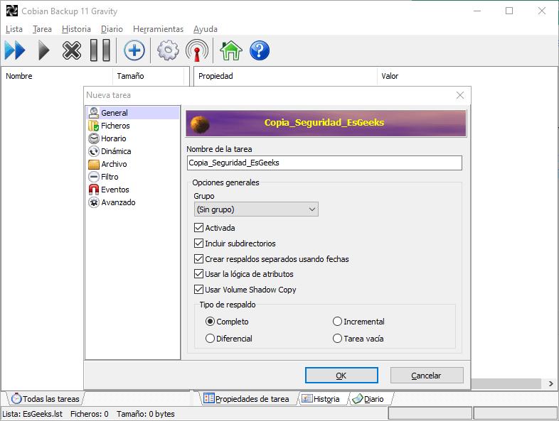 Cobian Backup Copia de Seguridad para Windows