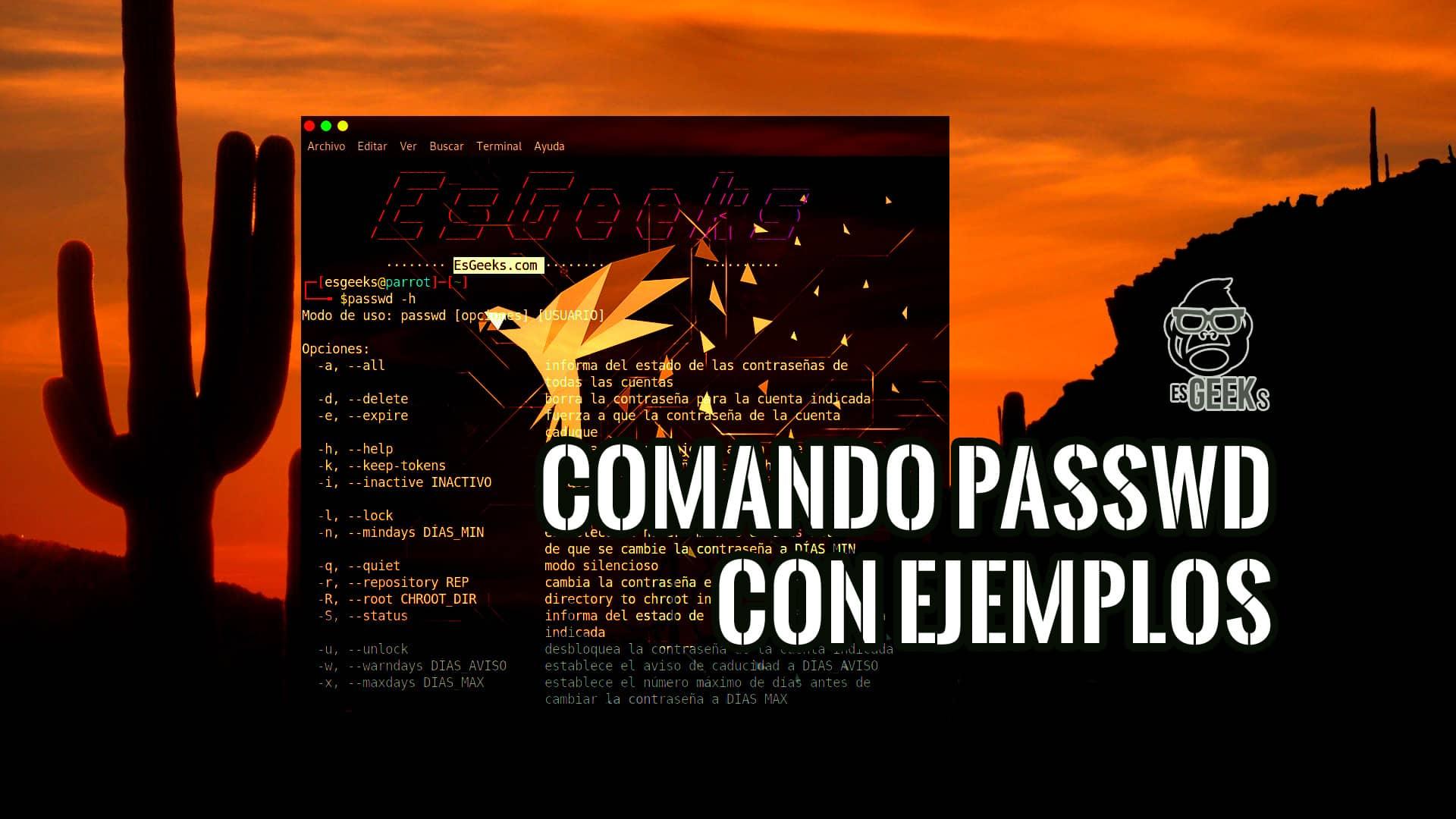 Comando passwd en Linux con Ejemplos