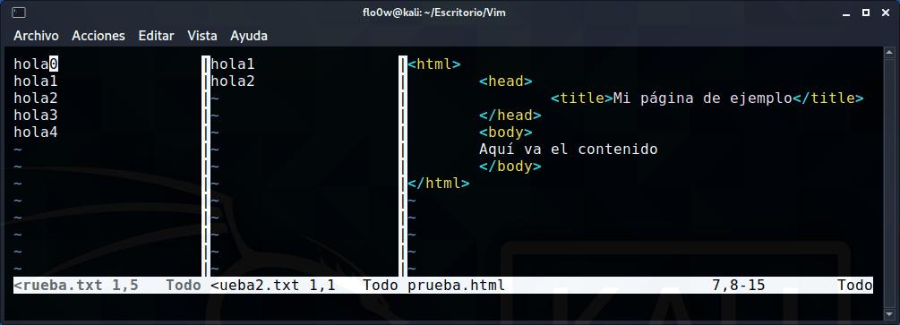Dividir pantalla de Vim verticalmente