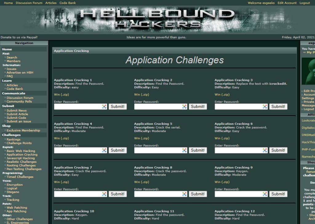 Hellbound Hackers para Practicar Pentesting