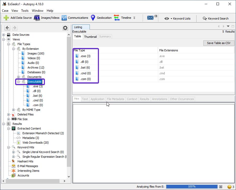 Tipos de archivos ejecutables