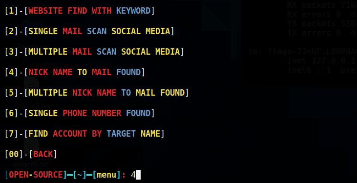 Usuario para encontrar Email