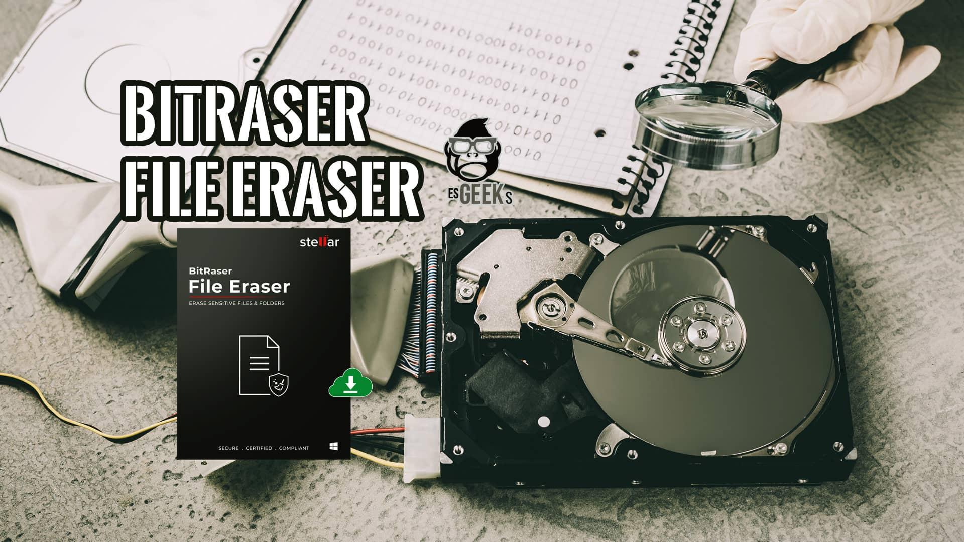 BitRaser File Eraser Software para Borrar Archivos de Forma Segura