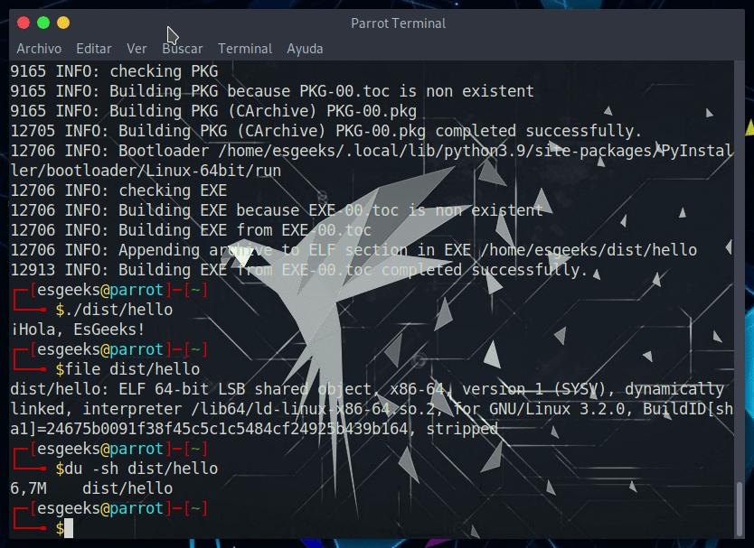Compilar para Python Windows con PyInstaller