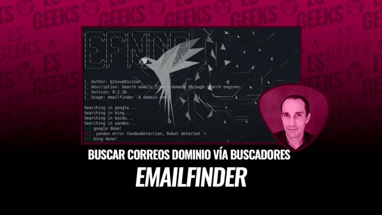 EmailFinder Buscar Correos de Dominio con Motores de Búsqueda